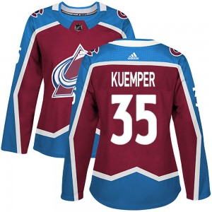Adidas Women's Darcy Kuemper Colorado Avalanche Women's Authentic Burgundy Home Jersey