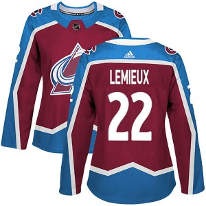 Adidas Women's Claude Lemieux Colorado Avalanche Women's Authentic Burgundy Home Jersey