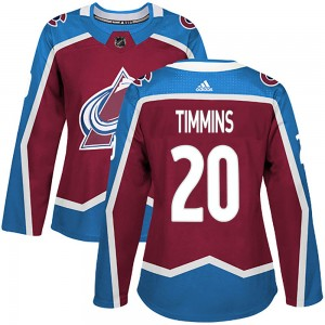 Adidas Women's Conor Timmins Colorado Avalanche Women's Authentic Burgundy Home Jersey