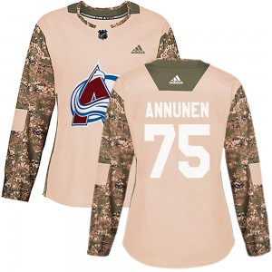 Adidas Justus Annunen Colorado Avalanche Women's Authentic Veterans Day Practice Jersey - Camo