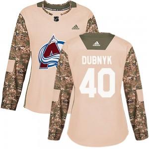 Adidas Devan Dubnyk Colorado Avalanche Women's Authentic Veterans Day Practice Jersey - Camo