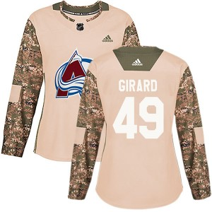 Adidas Samuel Girard Colorado Avalanche Women's Authentic Veterans Day Practice Jersey - Camo