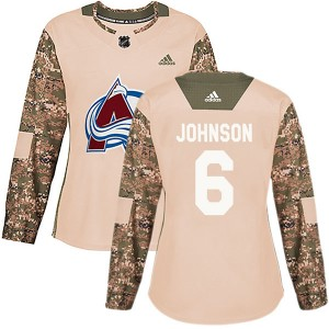 Adidas Erik Johnson Colorado Avalanche Women's Authentic Veterans Day Practice Jersey - Camo