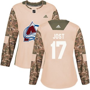 Adidas Tyson Jost Colorado Avalanche Women's Authentic Veterans Day Practice Jersey - Camo