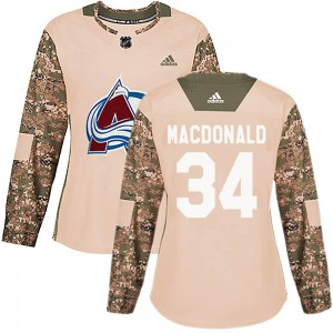 Adidas Jacob MacDonald Colorado Avalanche Women's Authentic Veterans Day Practice Jersey - Camo