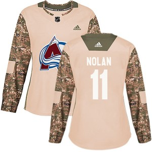 Adidas Owen Nolan Colorado Avalanche Women's Authentic Veterans Day Practice Jersey - Camo