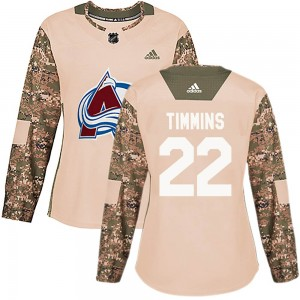 Adidas Conor Timmins Colorado Avalanche Women's Authentic Veterans Day Practice Jersey - Camo