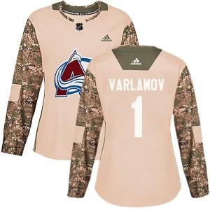 Adidas Semyon Varlamov Colorado Avalanche Women's Authentic Veterans Day Practice Jersey - Camo
