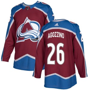 Adidas Youth Andrew Agozzino Colorado Avalanche Youth Authentic Burgundy Home Jersey