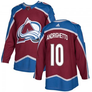 Adidas Youth Sven Andrighetto Colorado Avalanche Youth Authentic Burgundy Home Jersey