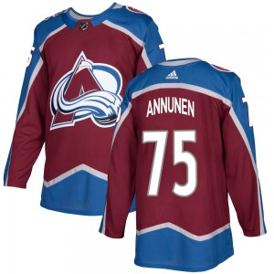 Adidas Youth Justus Annunen Colorado Avalanche Youth Authentic Burgundy Home Jersey