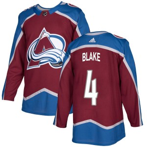 Adidas Youth Rob Blake Colorado Avalanche Youth Authentic Burgundy Home Jersey