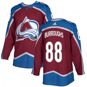 Adidas Youth Kyle Burroughs Colorado Avalanche Youth Authentic Burgundy Home Jersey