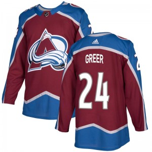 Adidas Youth A.J. Greer Colorado Avalanche Youth Authentic Burgundy Home Jersey