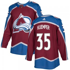 Adidas Youth Darcy Kuemper Colorado Avalanche Youth Authentic Burgundy Home Jersey