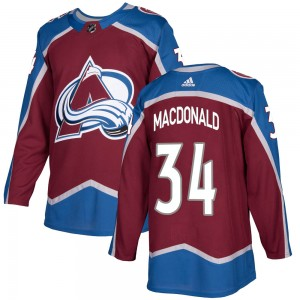 Adidas Youth Jacob MacDonald Colorado Avalanche Youth Authentic Burgundy Home Jersey