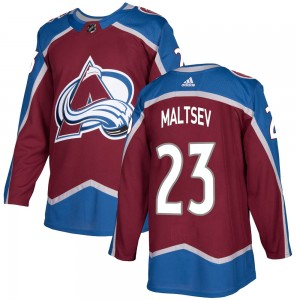 Adidas Youth Mikhail Maltsev Colorado Avalanche Youth Authentic Burgundy Home Jersey