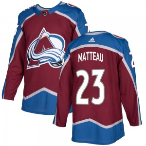 Adidas Youth Stefan Matteau Colorado Avalanche Youth Authentic Burgundy Home Jersey