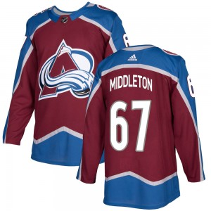 Adidas Youth Keaton Middleton Colorado Avalanche Youth Authentic Burgundy Home Jersey