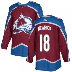 Adidas Youth Alex Newhook Colorado Avalanche Youth Authentic Burgundy Home Jersey
