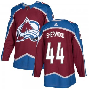 Adidas Youth Kiefer Sherwood Colorado Avalanche Youth Authentic Burgundy Home Jersey