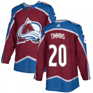 Adidas Youth Conor Timmins Colorado Avalanche Youth Authentic Burgundy Home Jersey