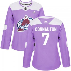 Adidas Kevin Connauton Colorado Avalanche Women's Authentic Fights Cancer Practice Jersey - Purple