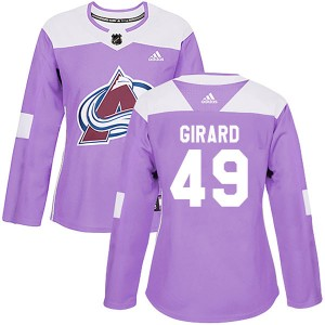 Adidas Samuel Girard Colorado Avalanche Women's Authentic Fights Cancer Practice Jersey - Purple