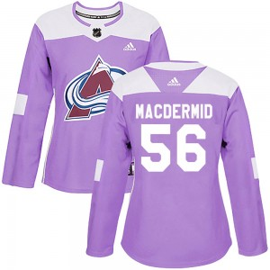 Adidas Kurtis MacDermid Colorado Avalanche Women's Authentic Fights Cancer Practice Jersey - Purple