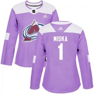 Adidas Hunter Miska Colorado Avalanche Women's Authentic Fights Cancer Practice Jersey - Purple