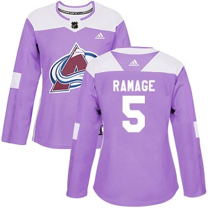 Adidas Rob Ramage Colorado Avalanche Women's Authentic Fights Cancer Practice Jersey - Purple