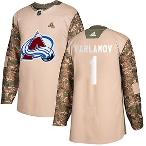 Adidas Semyon Varlamov Colorado Avalanche Youth Authentic Veterans Day Practice Jersey - Camo