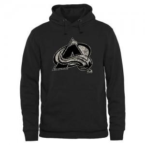 Men's Colorado Avalanche Black Rink Warrior Pullover Hoodie