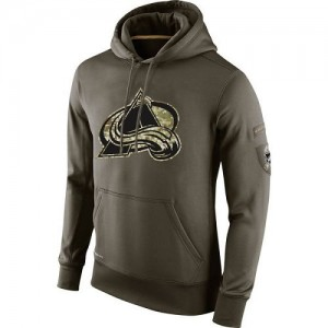 Nike  Men's Colorado Avalanche Olive Salute To Service KO Performance Hoodie