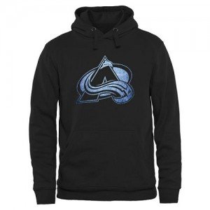 Men's Colorado Avalanche Rinkside Pond Hockey Pullover Hoodie - Black