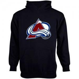 Men's Old Time Hockey Colorado Avalanche Youth Big Logo Fleece Pullover Hoodie - Steel Blue