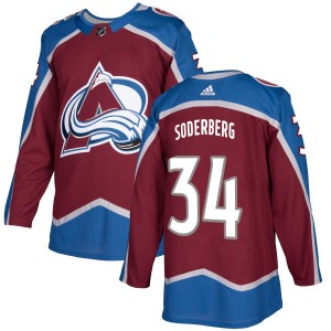 Adidas Men's Carl Soderberg Colorado Avalanche Authentic Burgundy Jersey