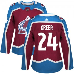Adidas A.J. Greer Colorado Avalanche Women's Authentic Burgundy Home Jersey - Red