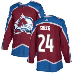 Adidas A.J. Greer Colorado Avalanche Youth Authentic Burgundy Home Jersey - Red