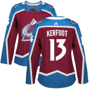 Adidas Alexander Kerfoot Colorado Avalanche Women's Authentic Burgundy Home Jersey - Red