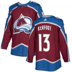 Adidas Alexander Kerfoot Colorado Avalanche Youth Authentic Burgundy Home Jersey - Red
