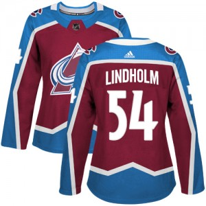 Adidas Anton Lindholm Colorado Avalanche Women's Authentic Burgundy Home Jersey - Red