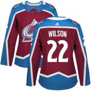 Adidas Colin Wilson Colorado Avalanche Women's Authentic Burgundy Home Jersey - Red