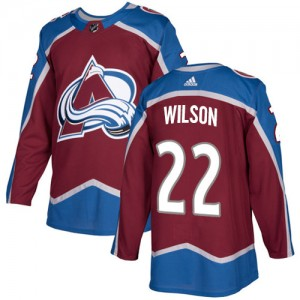 Adidas Colin Wilson Colorado Avalanche Youth Authentic Burgundy Home Jersey - Red