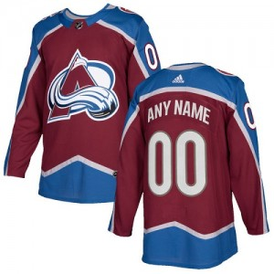 Adidas Custom Colorado Avalanche Youth Authentic Burgundy Home Jersey - Red