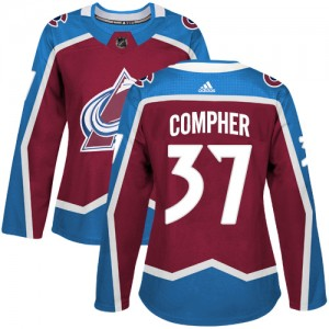 Adidas J.t. Compher Colorado Avalanche Women's Authentic J.T. Compher Burgundy Home Jersey - Red