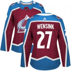 Adidas John Wensink Colorado Avalanche Women's Authentic Burgundy Home Jersey - Red