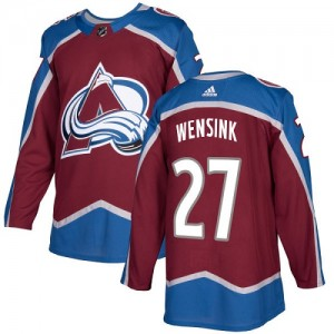 Adidas John Wensink Colorado Avalanche Youth Authentic Burgundy Home Jersey - Red