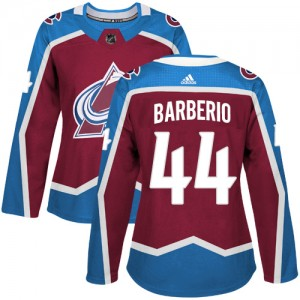 Adidas Mark Barberio Colorado Avalanche Women's Authentic Burgundy Home Jersey - Red