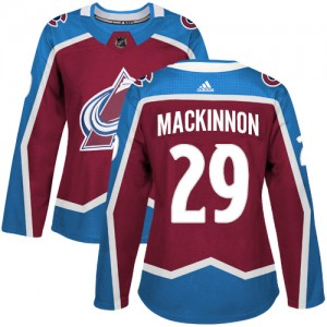 Adidas Nathan MacKinnon Colorado Avalanche Women's Authentic Burgundy Home Jersey - Red